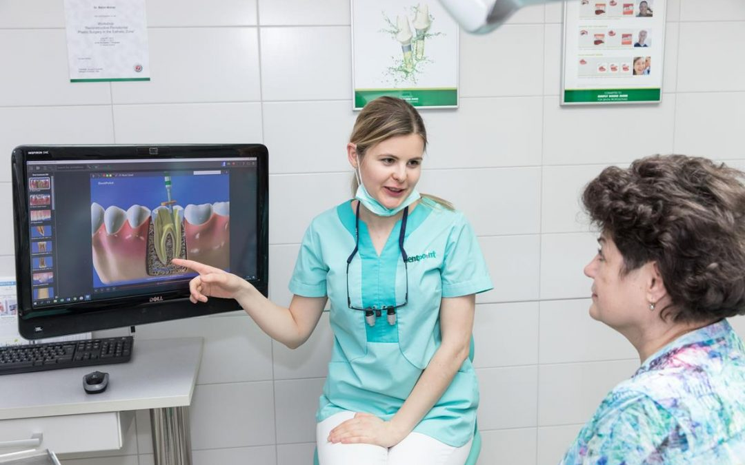 Párbeszéd cirkónium korona behelyezése előtt a fogorvosi rendelőben